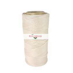 Find Linhasita 548 off white 1mm waxed polyester cord at RUMI SUMAQ, the retailer for macrame waxed cords for leather working, hand-stitching, beading, jewelry making, macrame knotting, quilting