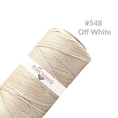 Linhasita 548 Waxed Polyester Cord Off White Thread 1mm Bobbin   RUMI SUMAQ Waxed Cords