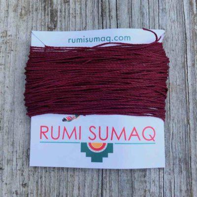 Linhasita 60 Maroon 1mm Waxed Thread | RUMI SUMAQ Cord