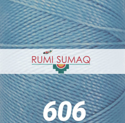 Find Linhasita 606 light blue 1mm waxed polyester cord at RUMI SUMAQ, the premier retailer for waxed cords for knotting, weaving, beading, jewelry making