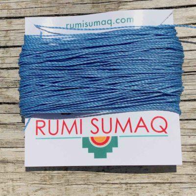 Linhasita 606 Light Blue Waxed Polyester Cord 1mm Waxed String by RUMI SUMAQ