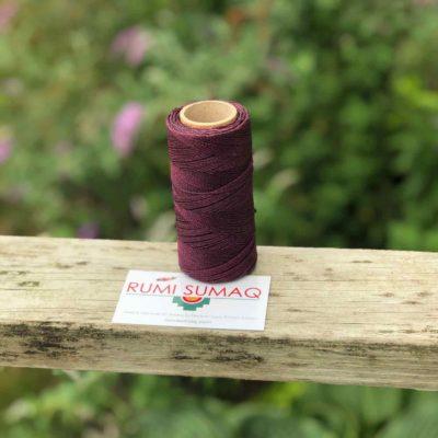 Linhasita 630 Eggplant Purple 2ply Waxed Polyester Cord | RUMI SUMAQ