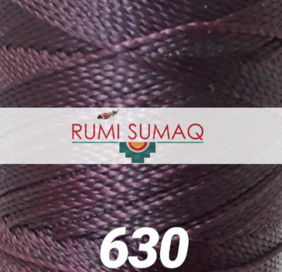 Find Linhasita 630 eggplant 2ply 1mm waxed polyester cord at RUMI SUMAQ, the premier retailer for waxed cords for knotting, weaving, beading, jewelry making, leather working, and making friendship bracelets