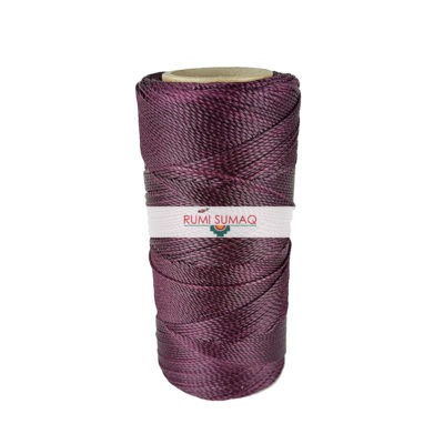 Linhasita 630 Eggplant Waxed polyester Cord 1mm | Rumi Sumaq Waxed Cords Hilo Encerado Morado