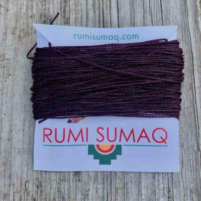 Linhasita 630 Eggplant 1mm Waxed Polyester Cord | Rumi Sumaq Waxed Threads