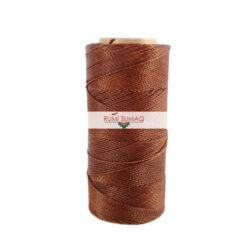 Linhasita 631 Cinnamon 2ply Waxed Polyester Cord 1mm Waxed Thread   RUMI SUMAQ Hilo Encerado