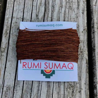 Linhasita 631 Cinnamon 2ply Waxed Polyester Cord 1mm Waxed Thread | RUMI SUMAQ Hilo Encerado