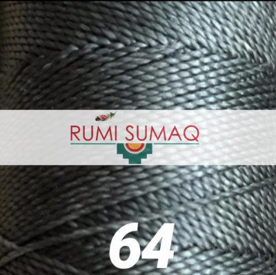 Linhasita 64 Dark Green Waxed Polyester Cord 1mm Leather Working Thread | Rumi Sumaq 2-Ply Cord