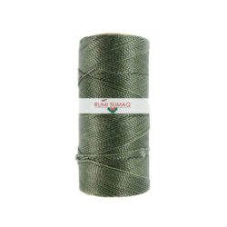 Linhasita 64 Dark Green Waxed Polyester Cord 1mm Leather Working Thread | Rumi Sumaq 2-Ply Cord Hilo Encerado