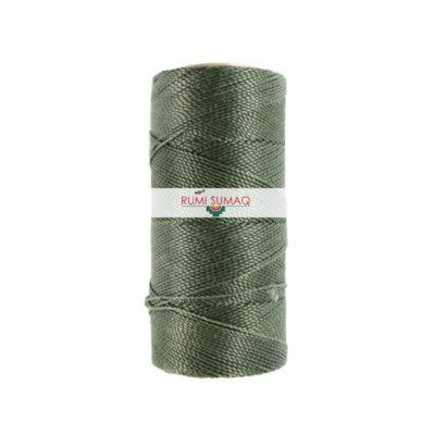 Linhasita 64 Dark Green Waxed Polyester Cord 1mm Leather Working Thread | Rumi Sumaq 2-Ply Cord Hilo Encerado