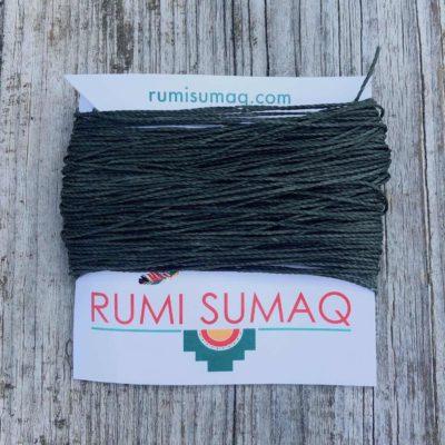 Linhasita 64 Dark Green 1mm Waxed Thread | RUMI SUMAQ 2-Ply Cord