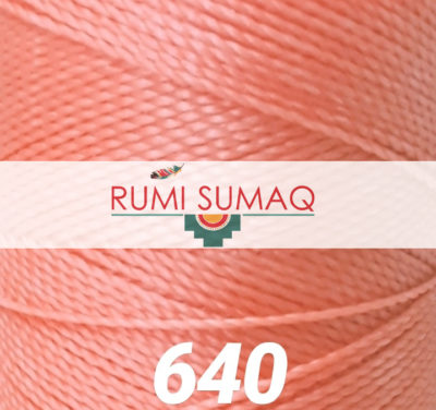Find 1mm Linhasita 640 salmon coral orange 2-ply waxed polyester cord at RUMI SUMAQ, the premier retailer for waxed cords for knotting and jewelry making.