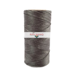 Find 1mm Linhasita 665 charcoal gray 2-ply waxed polyester cord at RUMI SUMAQ, the premier retailer for waxed cords for beading, basketry, leather, quilting
