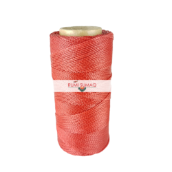 Find 1mm Linhasita 667 red 2-ply waxed polyester cord at RUMI SUMAQ, the premier retailer for waxed cords for beading, basketry, knotting jewelry, quilting