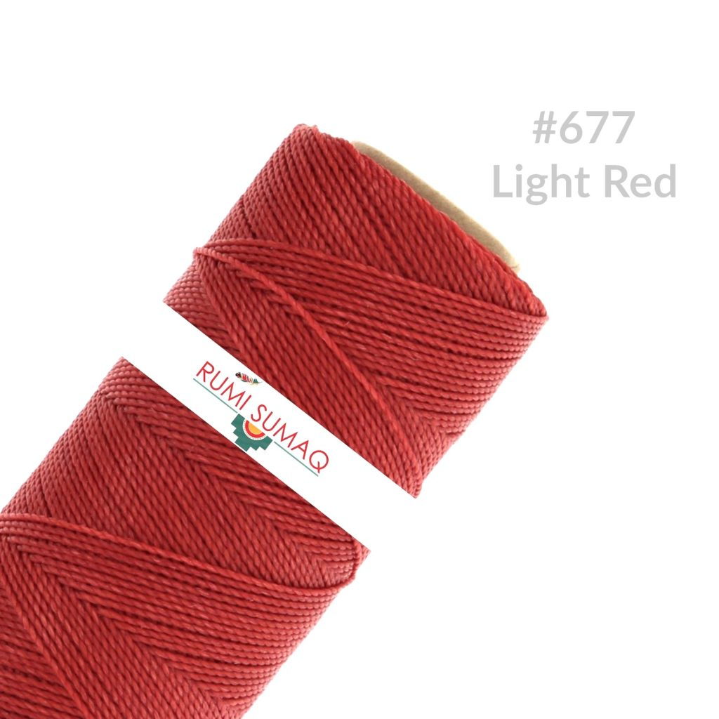 Linhasita 677 Red Waxed Cord Linha Encerada | RUMI SUMAQ Waxed Polyester Cords 1mm