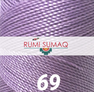 Linhasita 69 Lavender Purple 1mm Waxed Polyester Cord | RUMI SUMAQ Waxed Thread for Macrame Bracelets