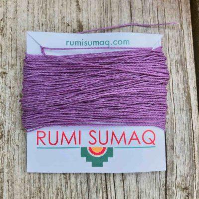 Linhasita 69 Lavender 1mm Waxed Polyester Cord | RUMI SUMAQ Thread