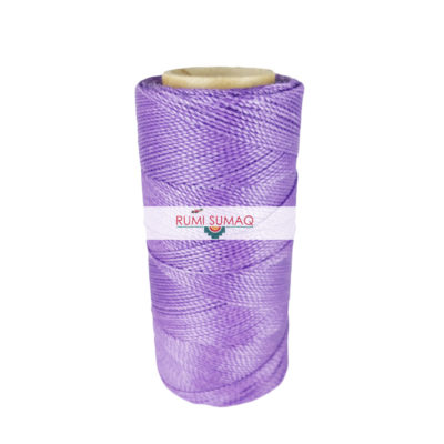 Linhasita 69 Lavender Waxed Polyester Cord 1mm 2-Ply Cord for Friendship Bracelets and Macrame Knotting | RUMI SUMAQ Waxed Cord Hilo Encerrado