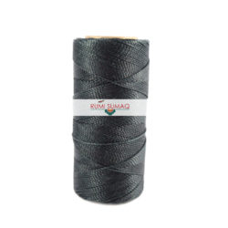 Find 1mm Linhasita 691 Dark Blue Gray 2-ply waxed polyester cord at RUMI SUMAQ, the premier retailer for waxed cords for beading, basketry, knotting jewelry, quilting