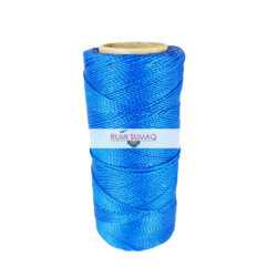 Find 1mm Linhasita 692 blue 2-ply waxed polyester cord at RUMI SUMAQ, the premier retailer for waxed cords for beading, basketry, knotting jewelry, quilting