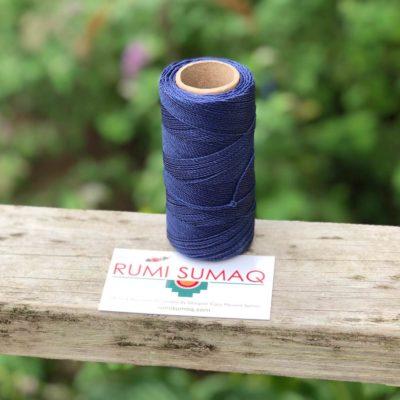 Waxed Thread Bobbin Linhasita 70 Dark Indigo Blue Waxed Polyester Cord | RUMI SUMAQ