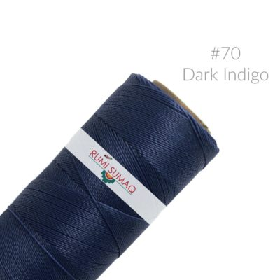 Linhasita 70 Waxed Polyester Cord in Dark Indigo Blue | RUMI SUMAQ Waxed Threads for Quilting, Basket Weaving, Macrame Jewelry, Friendship Bracelets and Leather Working