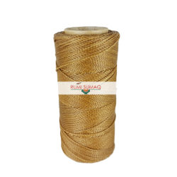 Find 1mm Linhasita 879 cafe royale brown 2-ply waxed polyester cord at RUMI SUMAQ, the premier retailer for waxed cords for beading and knotting jewelry.