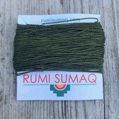 Linhasita 88 Olive Green 1mm Waxed Macrame Cord | RUMI SUMAQ