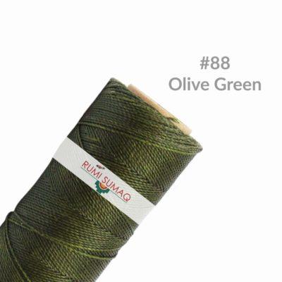 Linhasita 88 Olive Green 1mm Waxed Macrame Cord | RUMI SUMAQ Hilo Encerado Verde