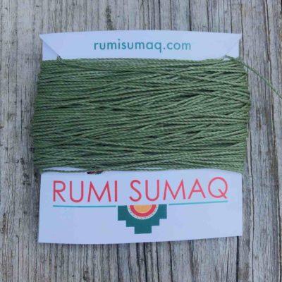 Linhasita 90 Sage Green 1mm Waxed Polyester Cord | RUMI SUMAQ Hilo Encerado