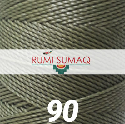 Linhasita 90 Sage Green 1mm Waxed Polyester Cord | RUMI SUMAQ Waxed Thread for Macrame Bracelets, Basket Maing, Leather Hand Stitching and Beading