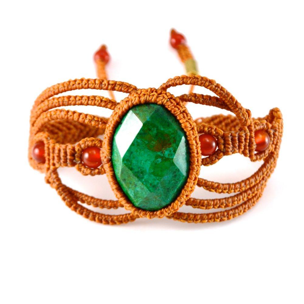 Macramé Bracelet Uywa by designer Coco Paniora Salinas of Rumi Sumaq
