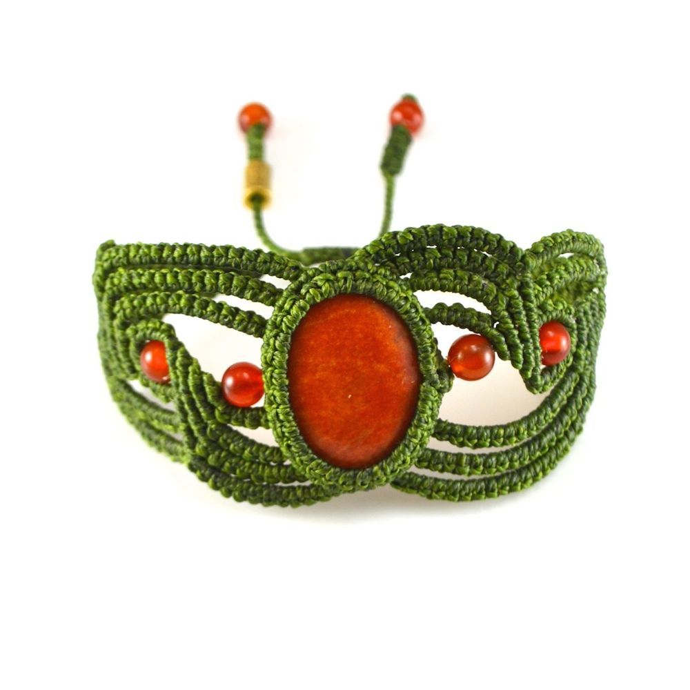 Ruphay macrame bracelet by designer Coco Paniora Salinas of Rumi Sumaq