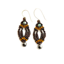 Macrame earrings by designer Coco Paniora Salinas of Rumi Sumaq rumisumaq.com