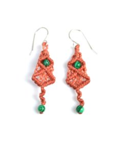 Pusaq Macrame Earrings by Designer Coco Paniora Salinas of Rumi Sumaq rumisumaq.com