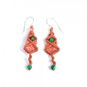 Pusaq Macrame Earrings by Designer Coco Paniora Salinas of Rumi Sumaq rumisumaq.com