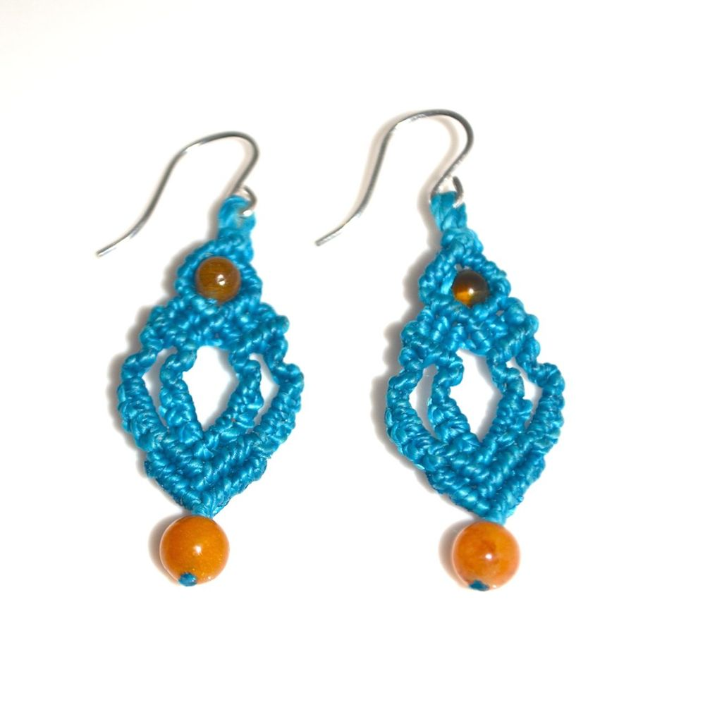 Qhawa Macramé Earrings rumisumaq.com