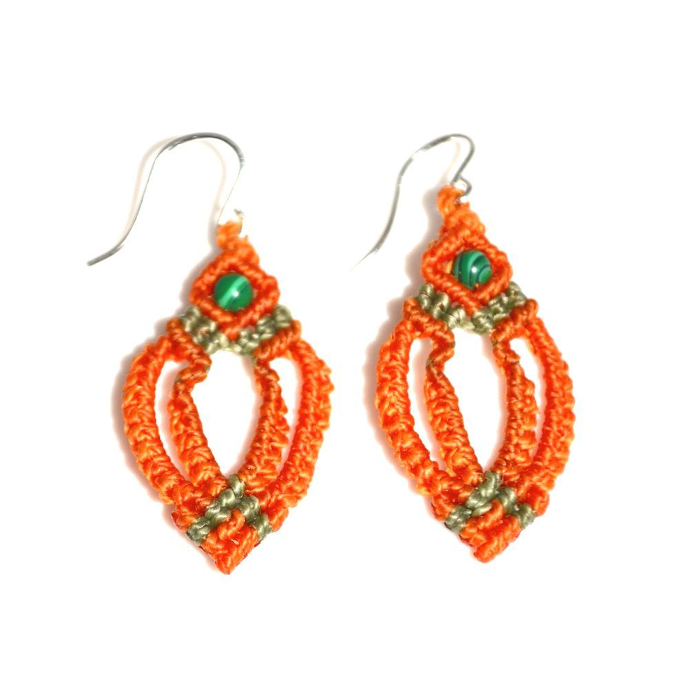 Kancha macrame earrings rumisumaq.com