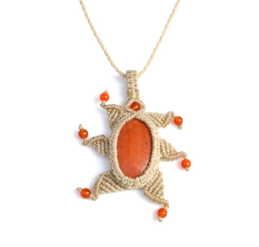 Malaki Macrame Necklace by designer Coco Paniora Salinas of Rumi Sumaq