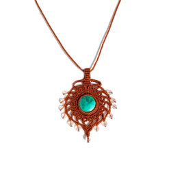 Macrame Pendant Necklace by Rumi Sumaq
