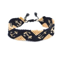 Macrame sailor bracelet with anchor by designer Coco Paniora Salinas of Rumi Sumaq