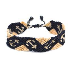 Macrame sailor bracelet with anchor by designer Coco Paniora Salinas of Rumi Sumaq