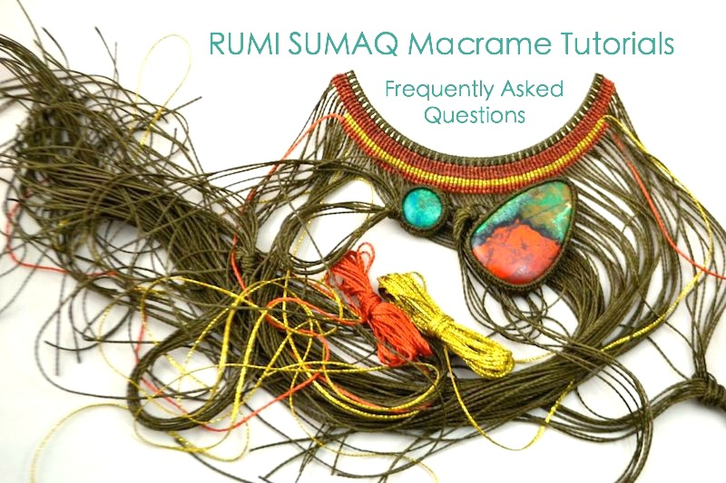 Macrame tutorials: How to macrame with jewelry designer Coco Paniora Salinas of Rumi Sumaq