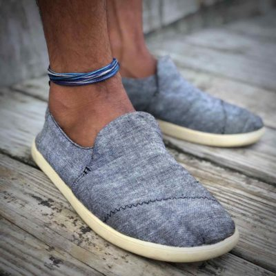 Man Anklet Blue Gray | RUMI SUMAQ Men's Anklets