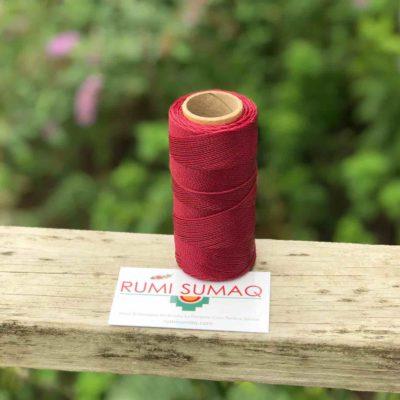 Marron Waxed Polyester Cord 1mm Linhasita 60 | Rumi Sumaq Waxed Thread Linha Encerada Ginda