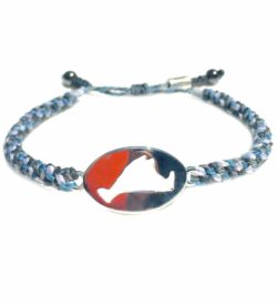 Martha's Vineyard Bracelet Island Map Blue Rope - RUMI SUMAQ Jewelry Handmade on MV