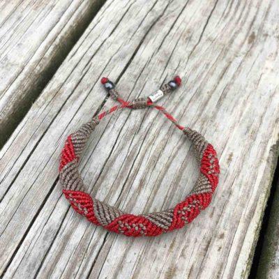 Mens Rope Bracelet Red | RUMI SUMAQ Handwoven Jewelry Handmade on Martha's Vineyard