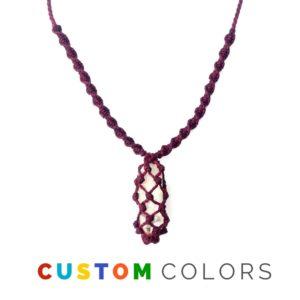 RUMI SUMAQ mens surfer necklace quartz stone in 39 custom colors. RUMI SUMAQ jewelry is handmade on the island of Martha's Vineyard.