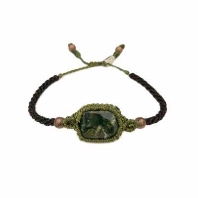 Moss Agate Bracelet | RUMI SUMAQ Macrame Gemstone Jewelry