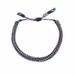 Nantucket Red White and Blue Bracelet | RUMI SUMAQ Unisex Sailor Rope Bracelets Handmade on Martha's Vineyard